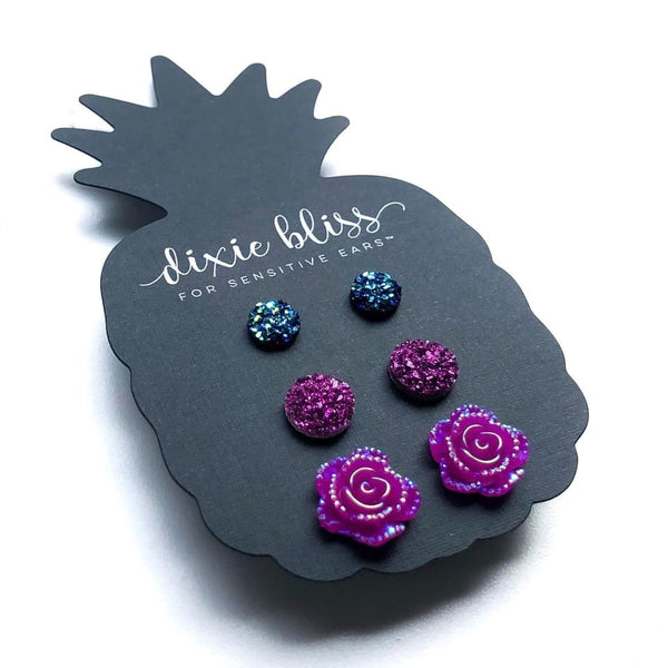 1528   Violet Earrings by Dixie Bliss