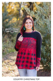 19950   Karen Buffalo Plaid Top