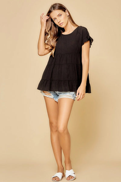 17202   Georgie Babydoll Top