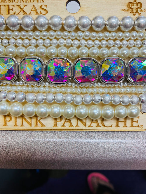 2114   Pink Panache Pearl Stack
