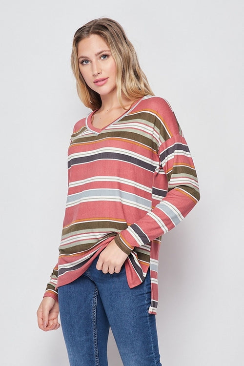 01816   Cierah Striped Top