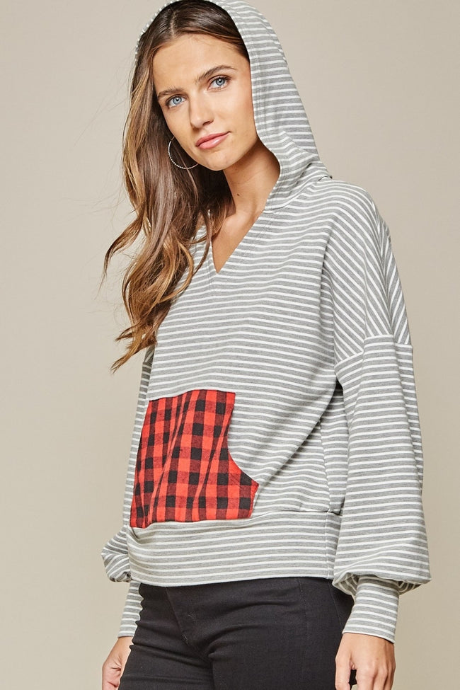 17811   Artemis Striped Buffalo Plaid Sweatshirt