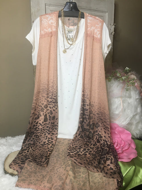 17830  Judith Cheetah Print Sublimation Vest