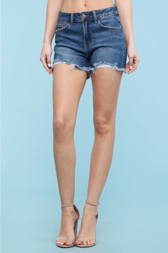 1568   Kristen Destroyed Cut Off Judy Blue Shorts