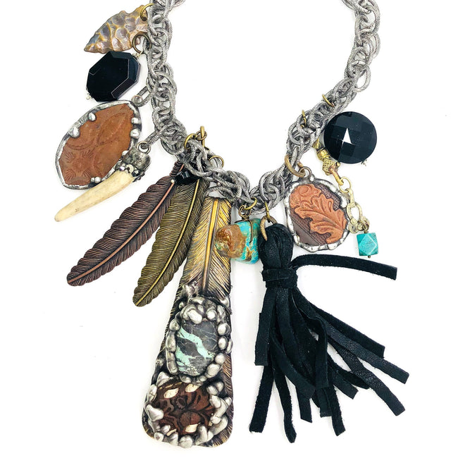 0612   Patrice Plume de Rodeo Necklace - One of a Kind!