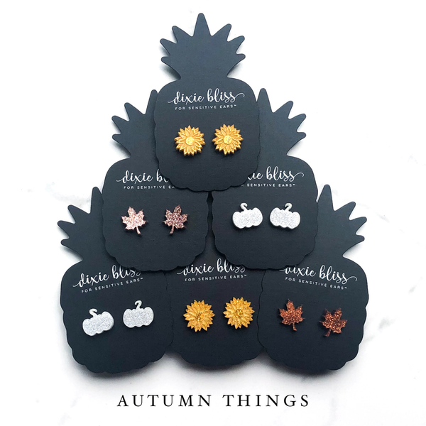 1461   Autumn Things Earrings by Dixie Bliss
