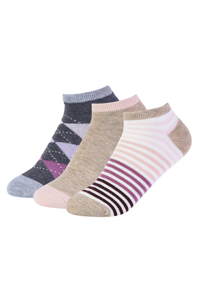 1320   Argyle & Stripe Shortie Socks