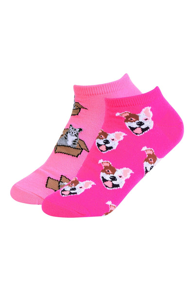 1010   Dog & Kitty in a Box Socks