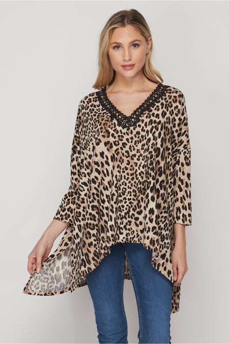 2727   Megan Knotted Long-Sleeve Top