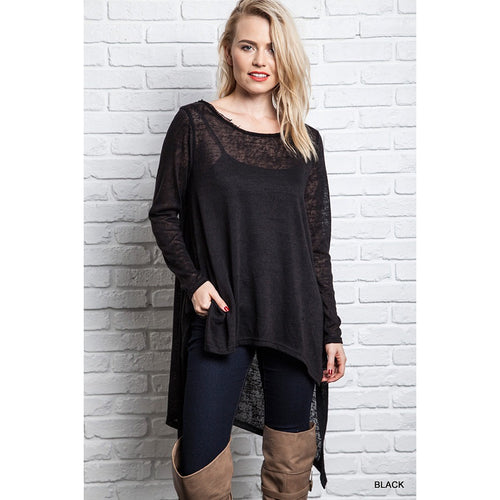 Black high-low tunic S-L