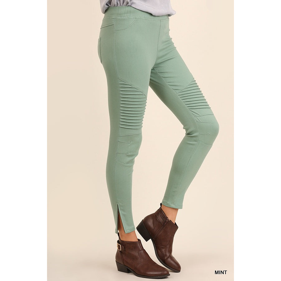Dark mint moto jegging S-L