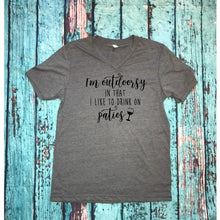 "Graphic tee ""I'm outdoorsy"" - XS - 3XL"