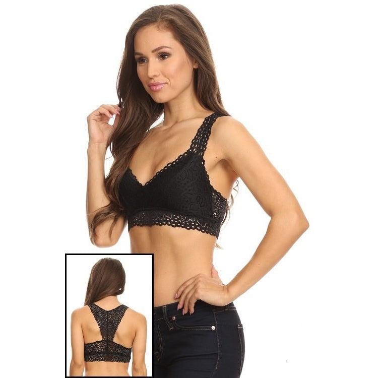 Curvy girl - Black lace bralette L/XL & XL/XXL