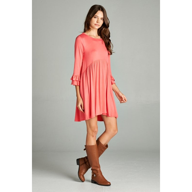 Coral babydoll dress S-XL