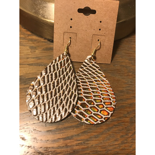Leather earrings, 2.25