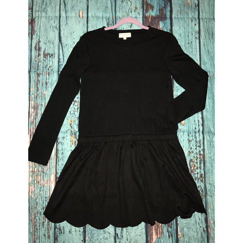 Black suede dress S-L