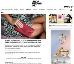 First of June win-actie Linda nieuws magazine, vegetable tanned leather wallets and bags