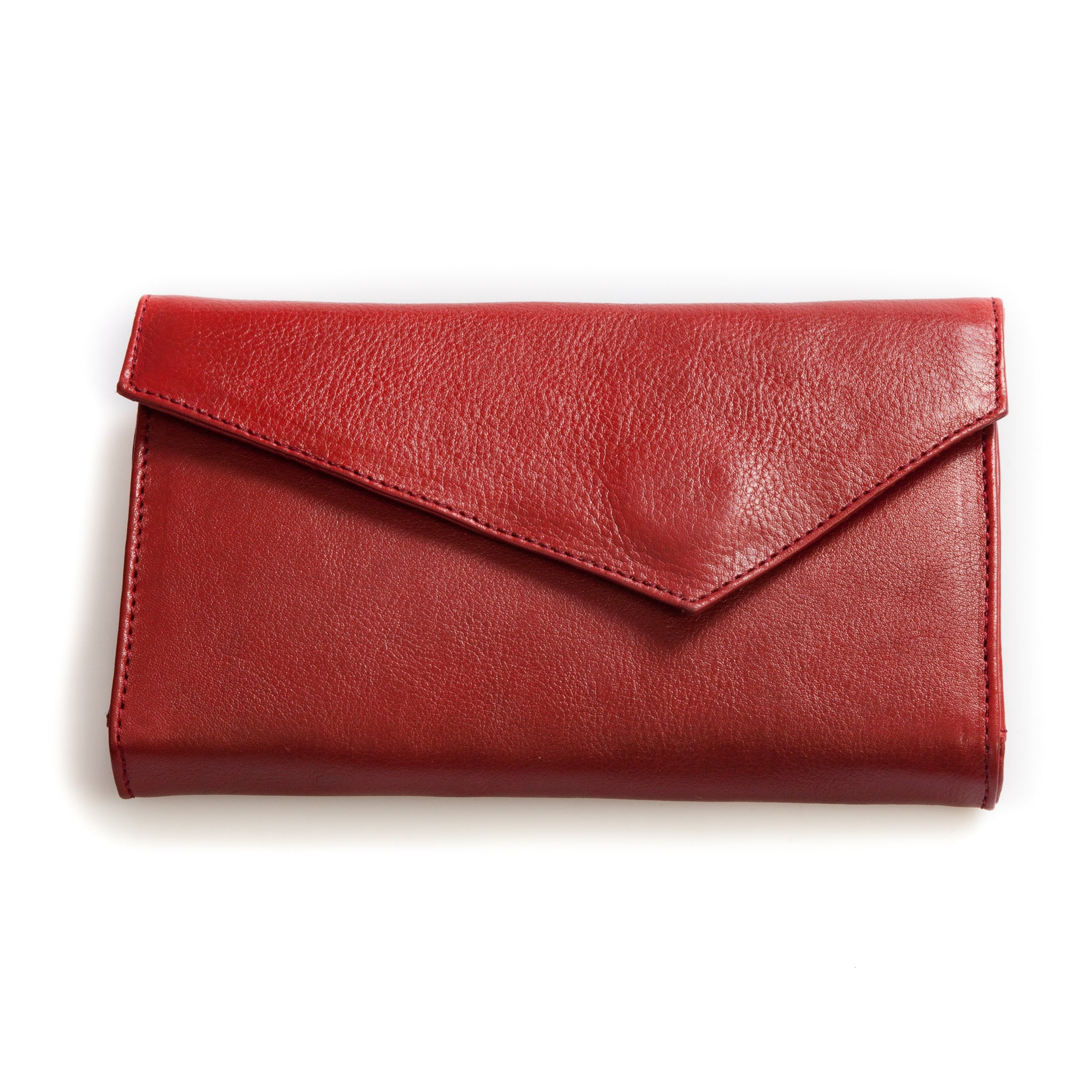 First of June, Lovina, wallet, leather, red leather, vegetable tanned leather