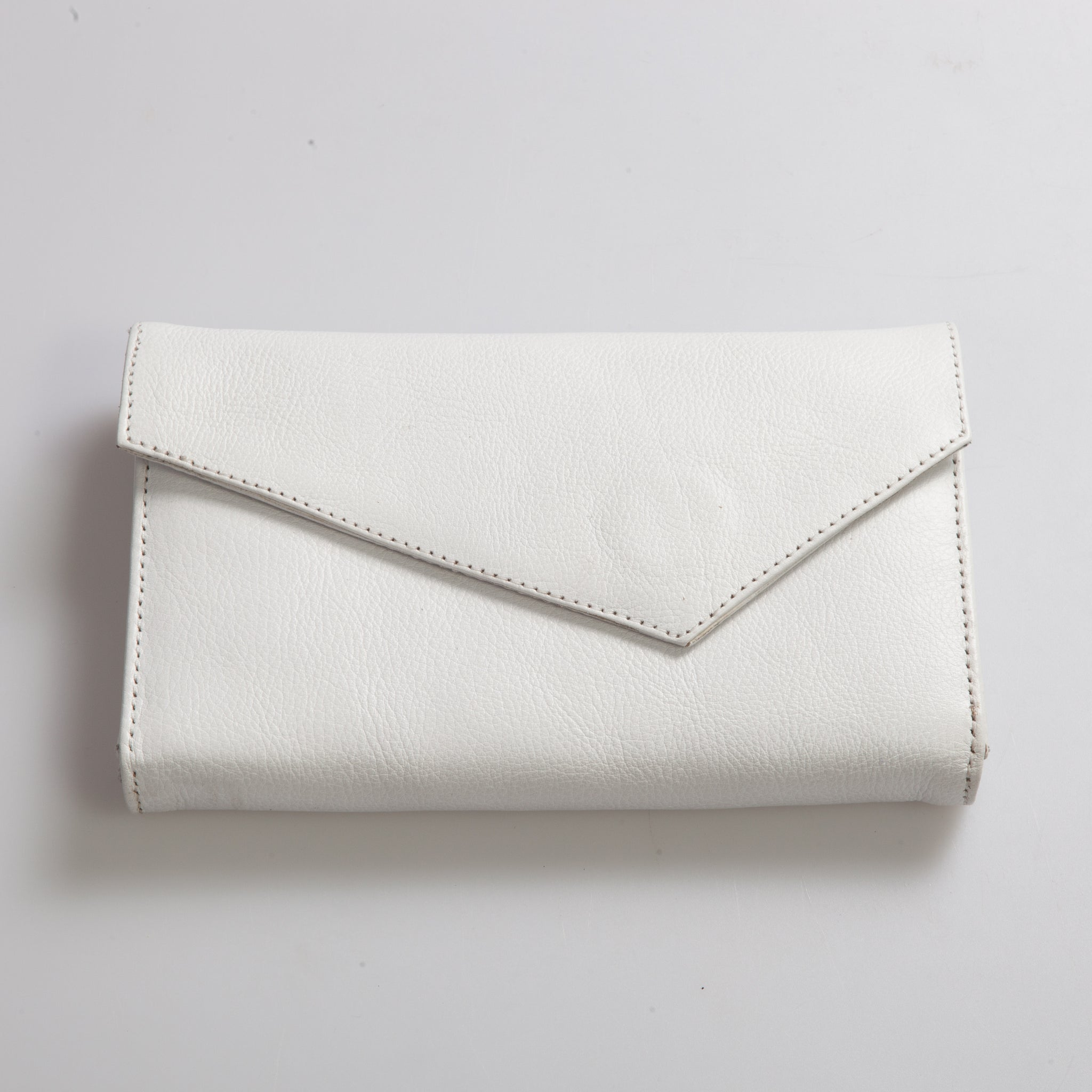 First of June, Lovina, wallet, leather, white leather