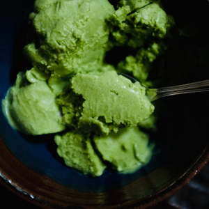 Matcha Tahini Orange Blossom Ice Cream