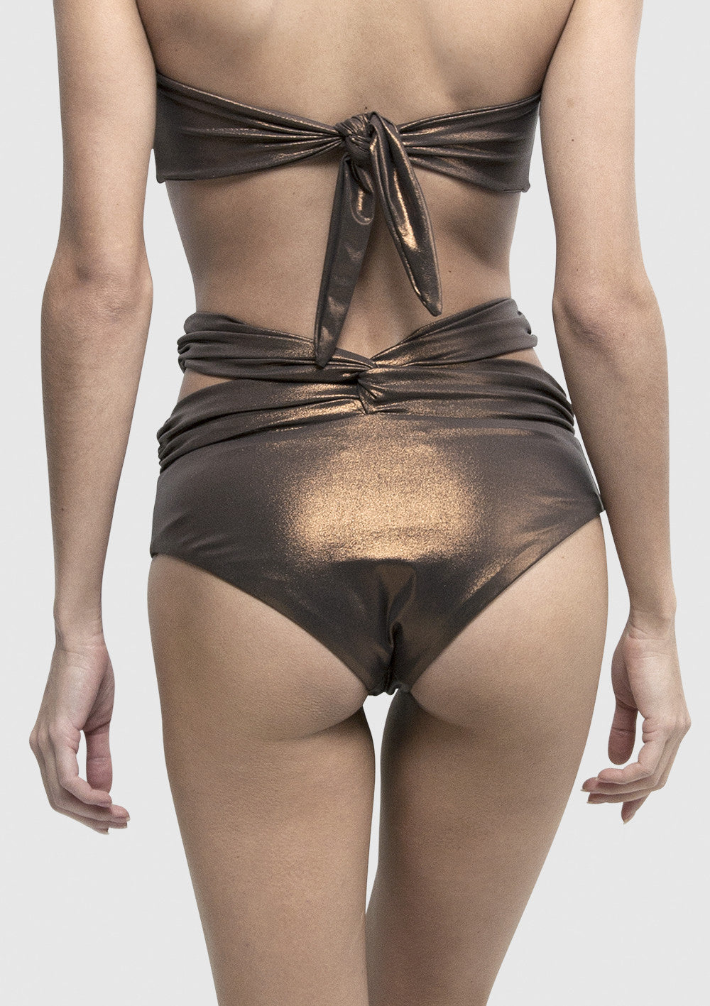 Rise High Waist Bikini - Bronze