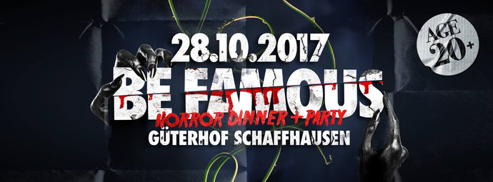 "Dr. Ginger Halloween Bar an der ""Be Famous Horror Night"" im Güterhof"