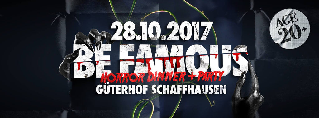 Be Famous Horror Night im Güterhof in Schaffhausen mit Dr. Ginger Halloween Bar