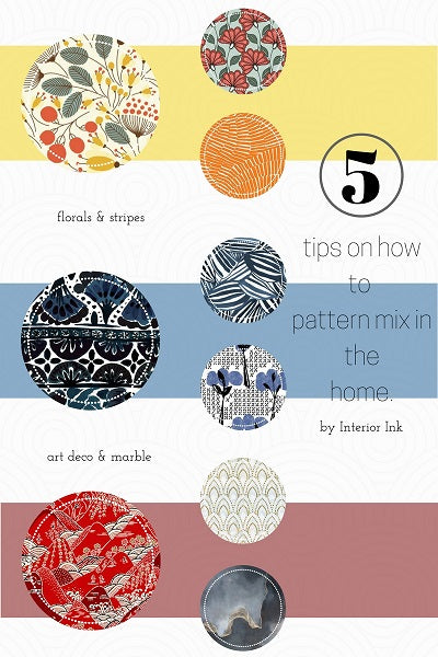 5 Tips on How to Pattern Mix in the Home