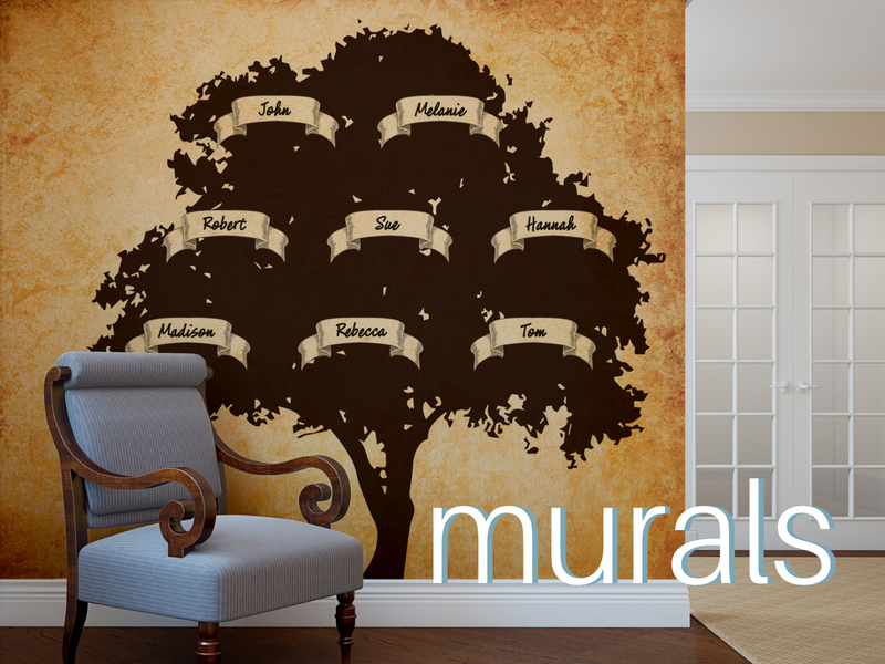 Create a custom wall mural for any room.
