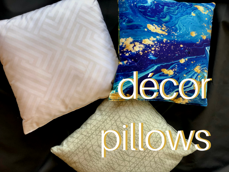 Custom throw pillows and decorative pillows.