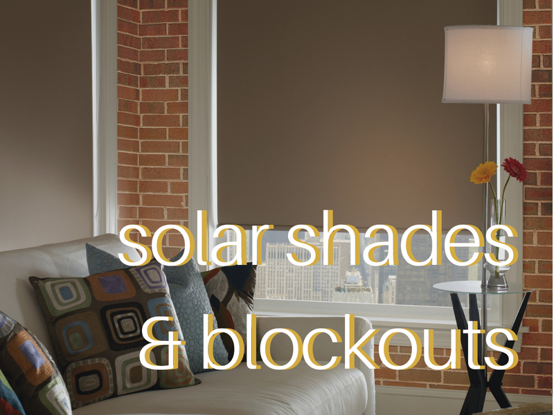 Custom solar shades and home solar shades.
