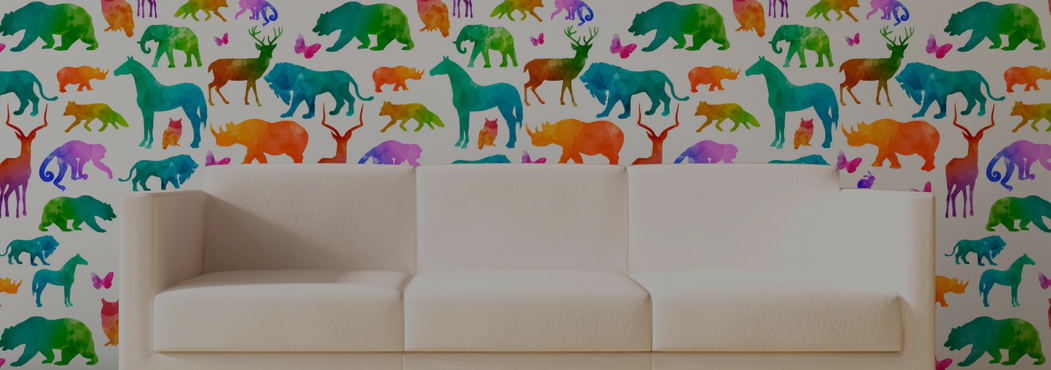 Custom kids wallpaper for boys and girls rooms.