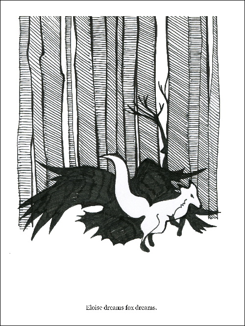 Eloise Dreams Fox Dreams B/W - E&E 11 Print