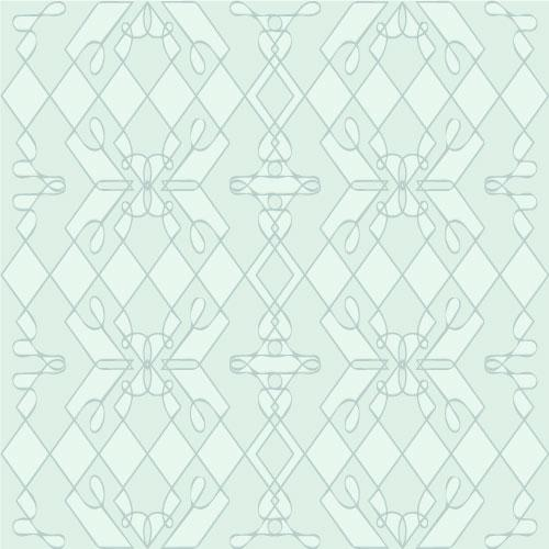 Lines that loop and form geometric patterns in light blue