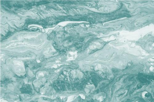 Marbled paint effect in emerald green