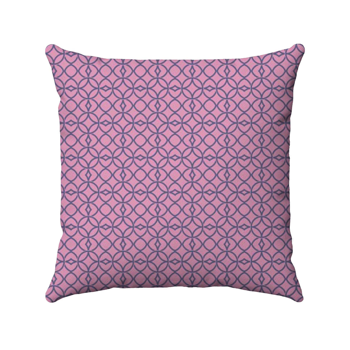 Classically intricate geometric design mixed with a vintage damask flair using a two-color line drawing of navy on a plum background