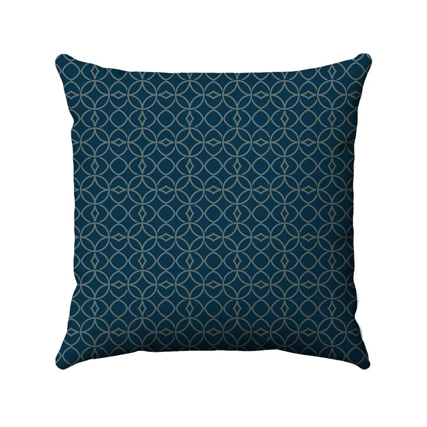 Vintage Geometric Pillow | Navy