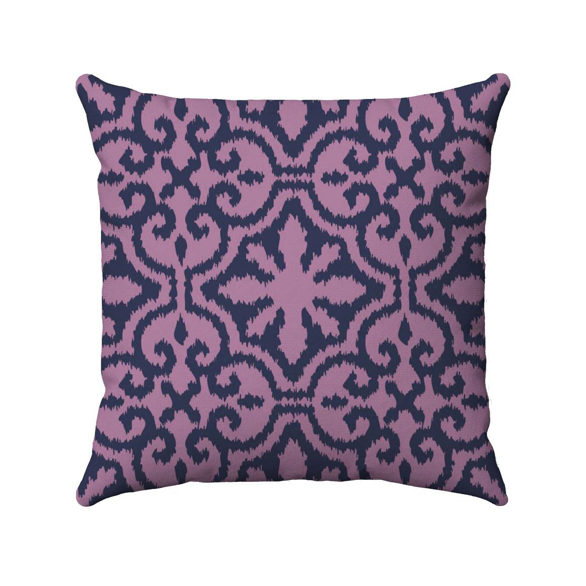 Lavendar damask ikat design on an ultra violet background