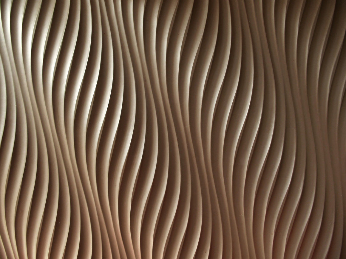 Rippling grooves in bronze color waving in a 3D motion thumbnail