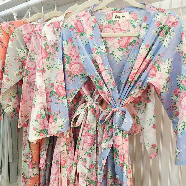 Cotton floral robes for your bridesmaids