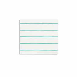 Frenchie Striped Aqua Small Napkin-Paper Napkins-BerryPom & James