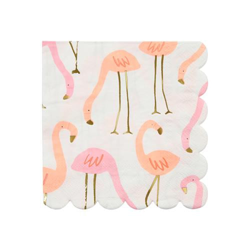Flamingo Small Napkin-Paper Napkins-BerryPom & James