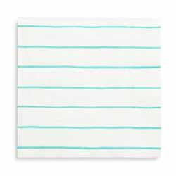 Frenchie Striped Aqua Large Napkin-Paper Napkins-BerryPom & James