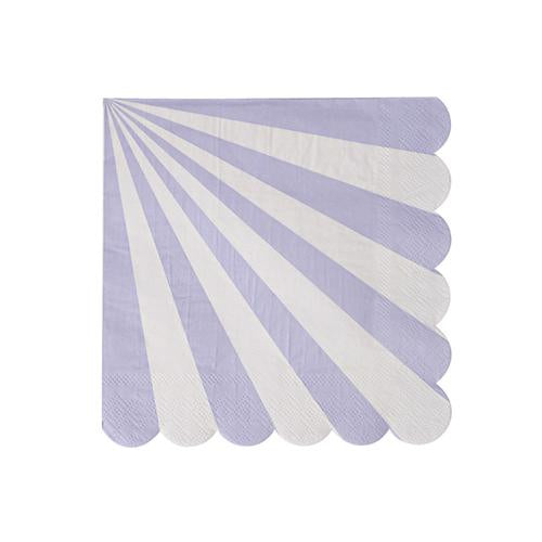 Lavender Stripe Small Napkins-Paper Napkins-BerryPom & James