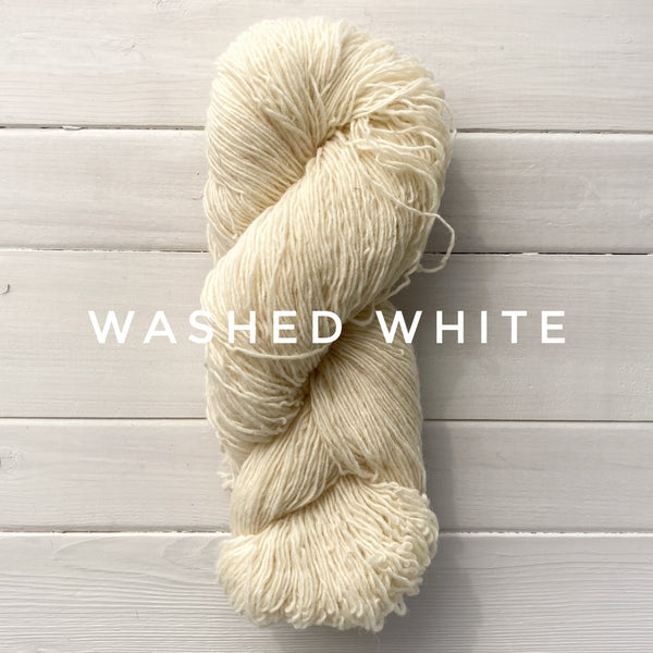 Briggs and Little Sport yarn in Canada Washed White