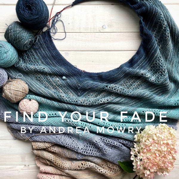 Find Your Fade shawl yarn kit in Canada