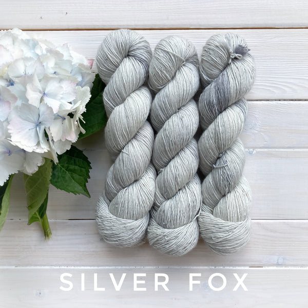 Lichen and Lace 1 Ply Superwash Merino  yarn in Canada Silver Fox