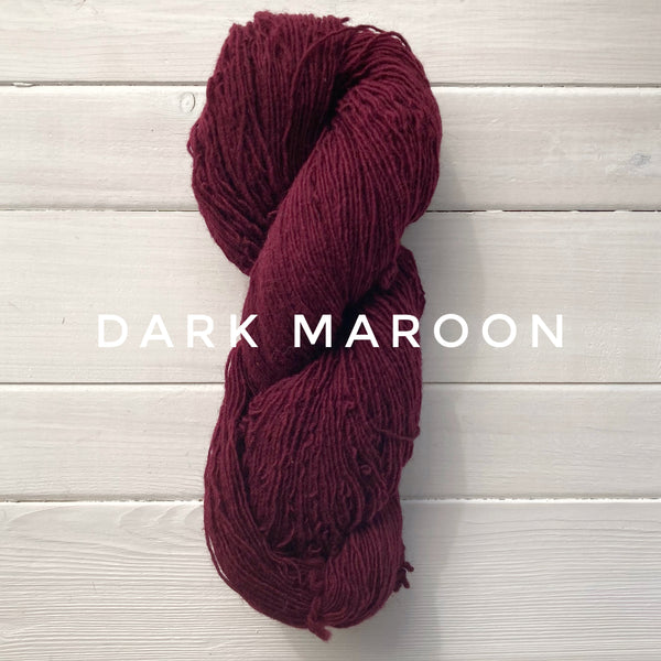 Briggs and Little Sport yarn in Canada Dark Maroon