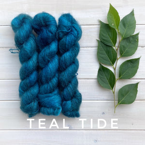 Lichen and Lace mohair silk Marsh Mohair yarn in Canada  Teal Tide
