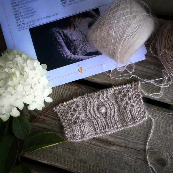 The daydreamer sweater Andrea Mowry yarn kit in Canada
